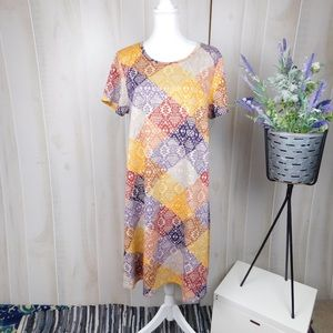 Lularoe Carly Patterned Swing Dress